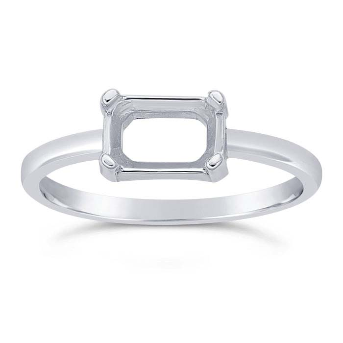 Sterling Silver Octagon Ring Mountings