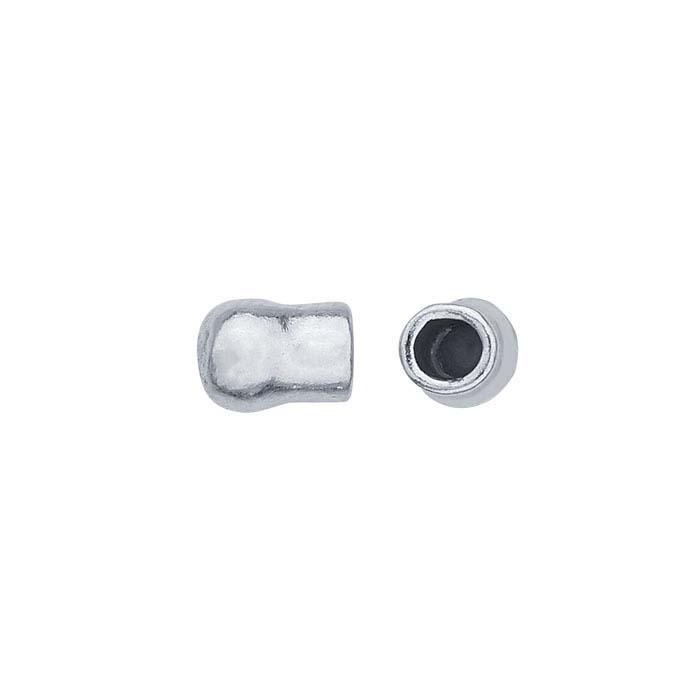 Sterling Silver 4mm Ball End Cap for Flex Tube Bracelet