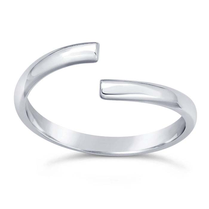Sterling Silver Half-Round Bypass Ring Shanks