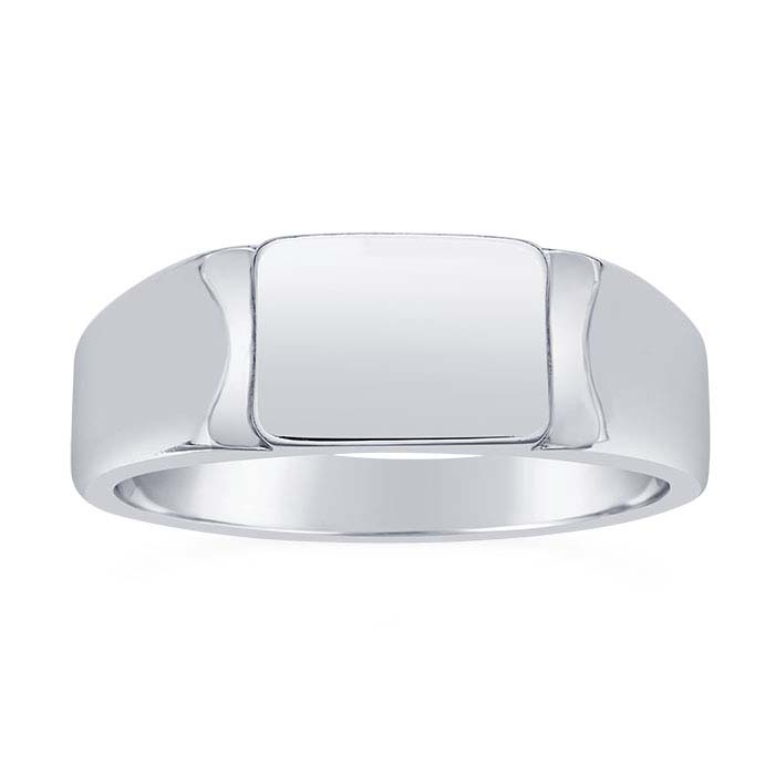 Sterling Silver 9 x 6.5mm Rectangle Signet Rings